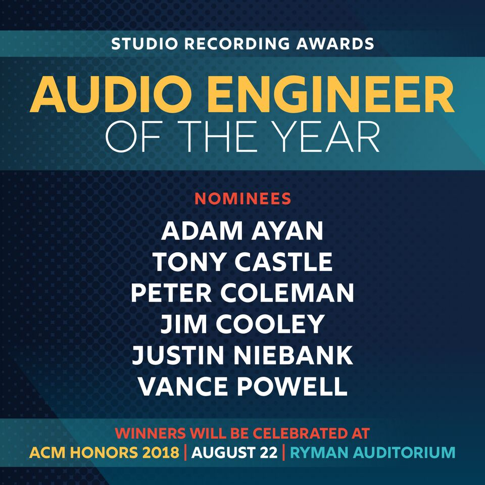 Adam Ayan nominated for an Academy of Country Music Award