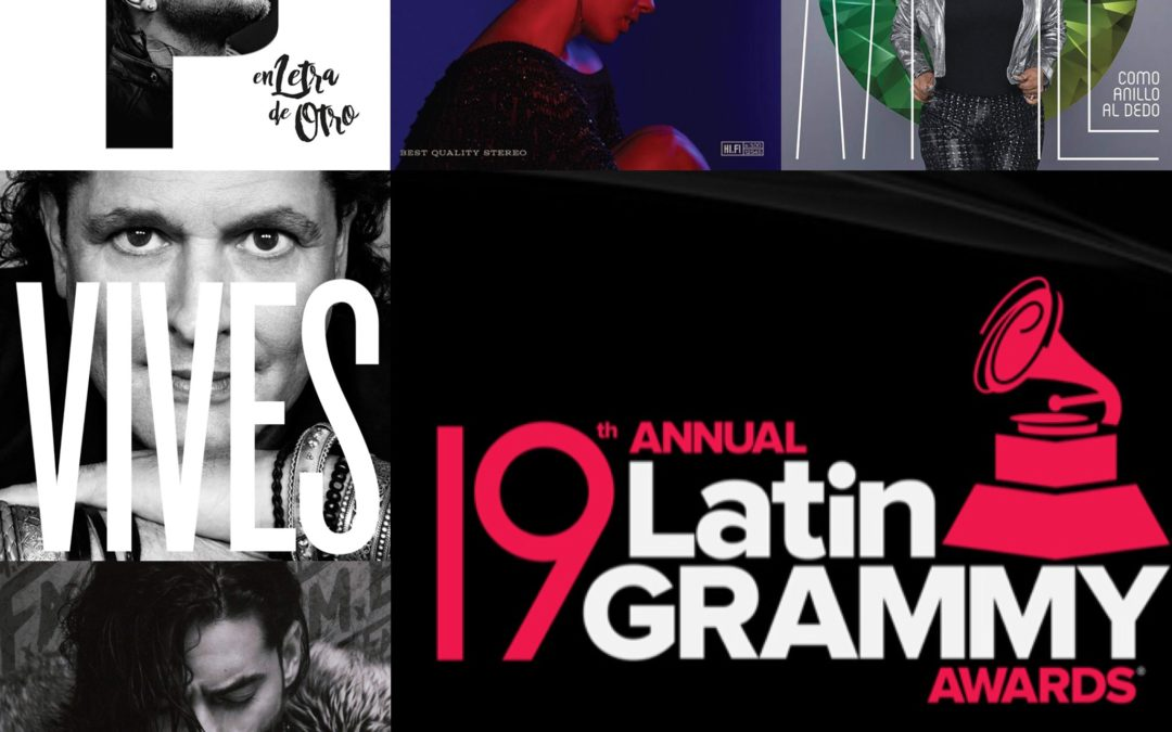 Adam Ayan mastered several of the 19th Annual Latin Grammy nominated recordings!